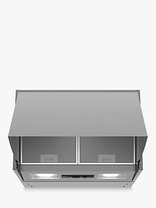 Neff D64MAC1X0B Integrated Cooker Hood, B Energy Rating, Silver