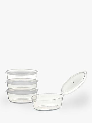 John Lewis & Partners Freezer Pots, Pack of 4, Large