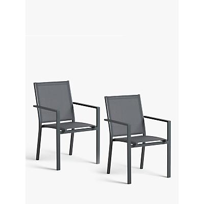 John Lewis & Partners Miami Garden Dining Chair, Grey