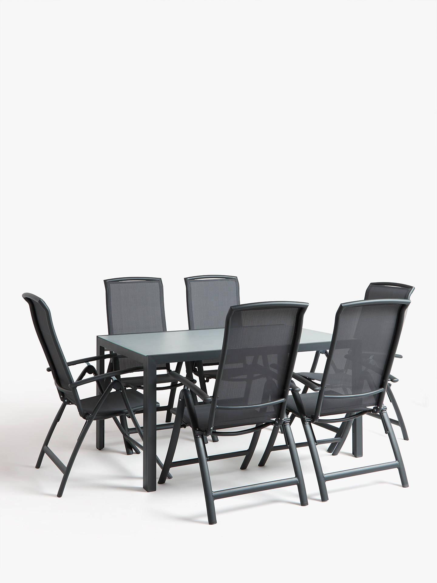 893680e1170 Buy John Lewis   Partners Miami 6-Seat Ceramic Glass Top Garden Dining Table