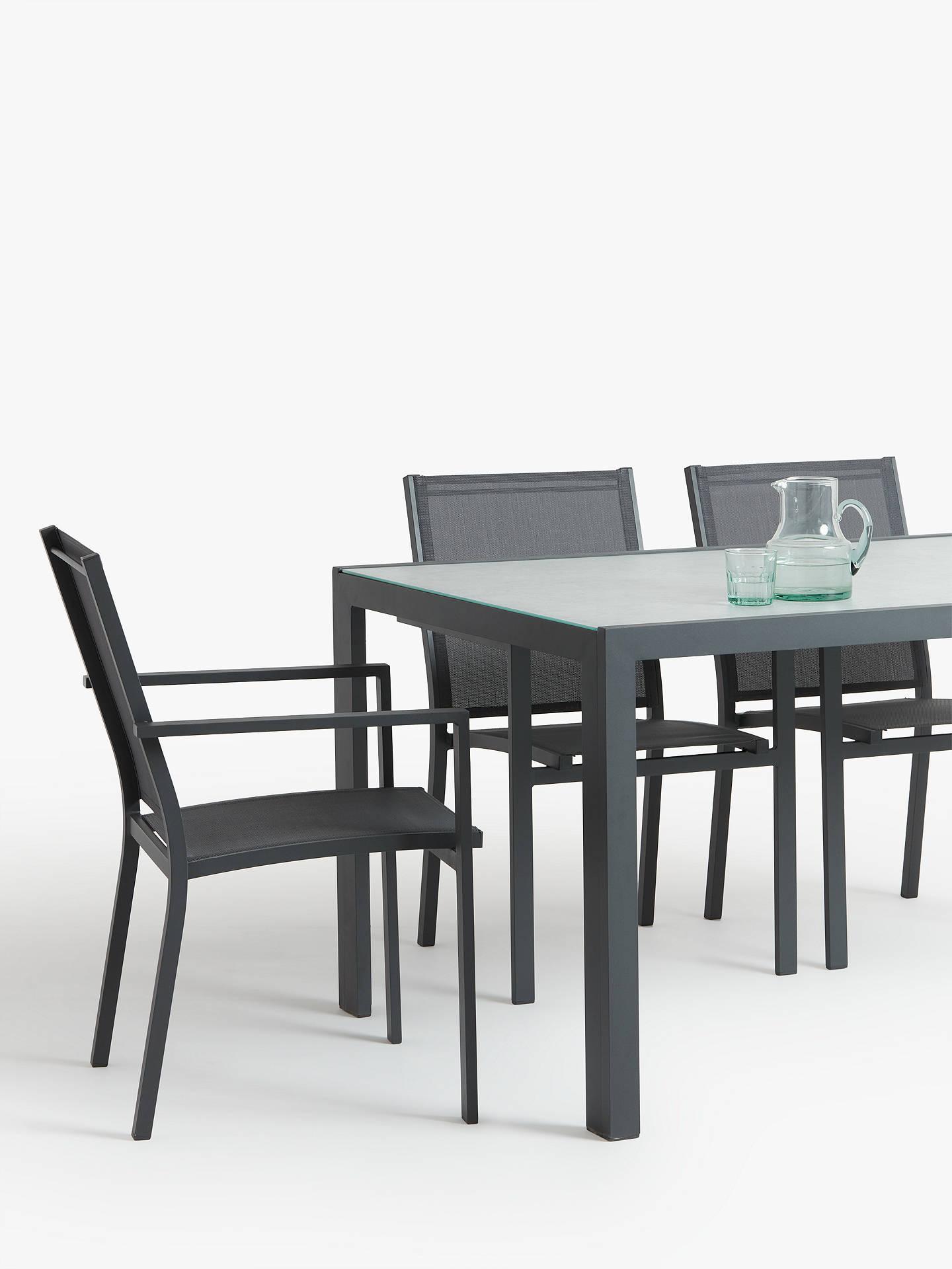 febb5250431 ... Buy John Lewis   Partners Miami Ceramic Glass Top 6-Seat Garden Table