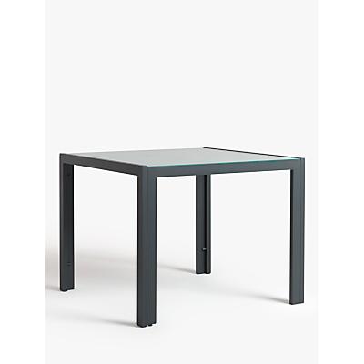 John Lewis & Partners Miami Ceramic Glass Top 4-Seat Garden Table, Grey