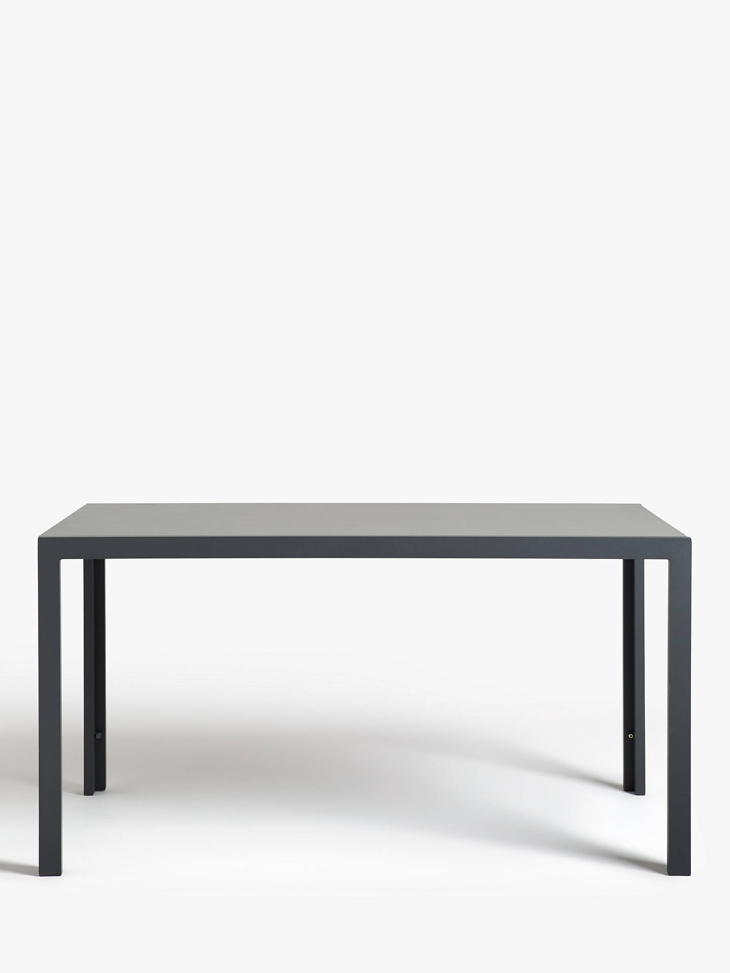 John Lewis Partners Miami Glass Top 6 Seat Garden Table Grey
