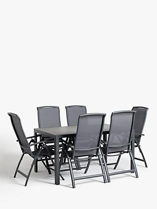 4e708c70864 John Lewis   Partners Miami 6-Seat Glass Top Garden Dining Table    Reclining Chairs