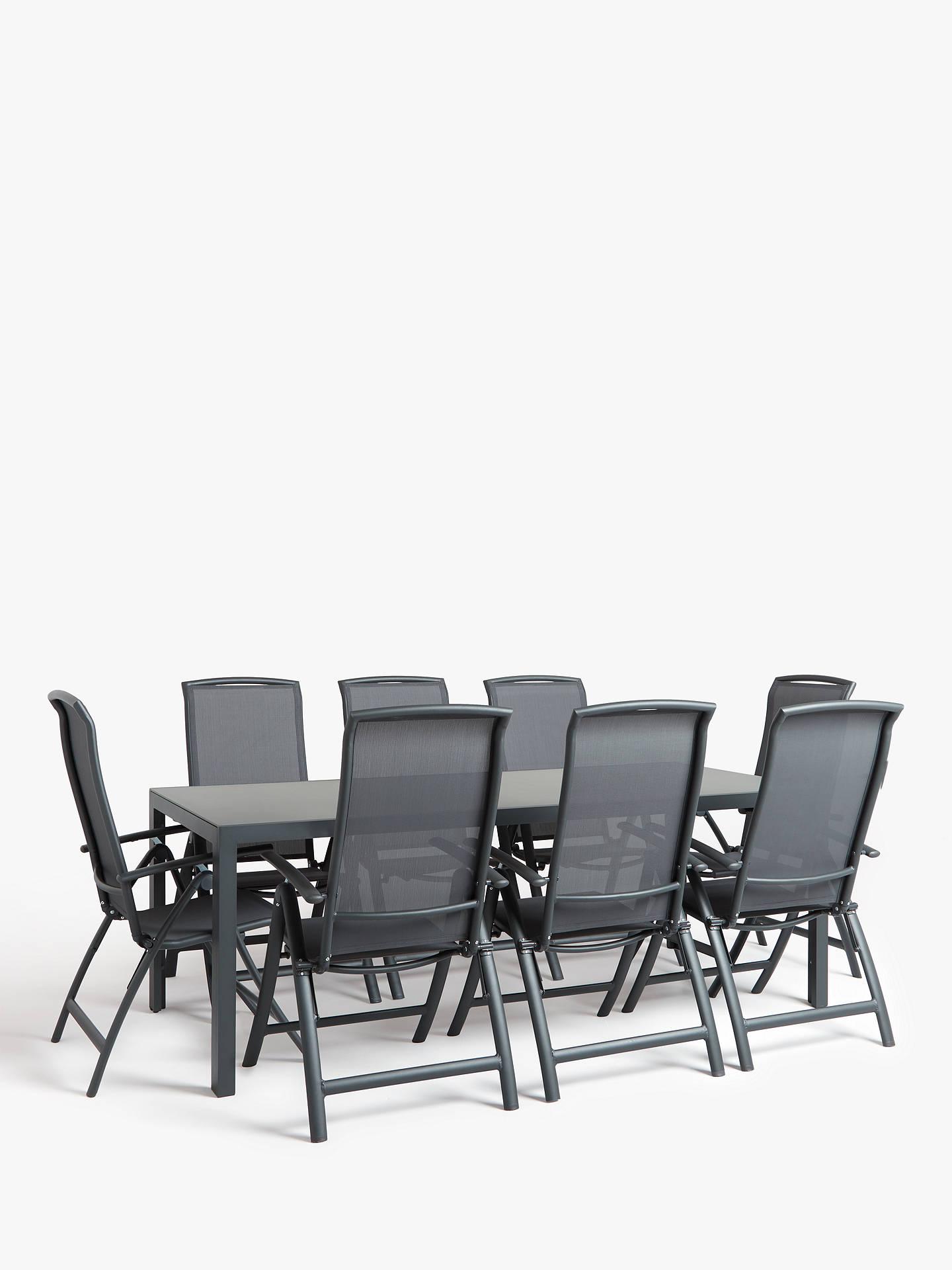 Strange John Lewis Partners Miami 8 Seat Glass Top Garden Dining Interior Design Ideas Philsoteloinfo