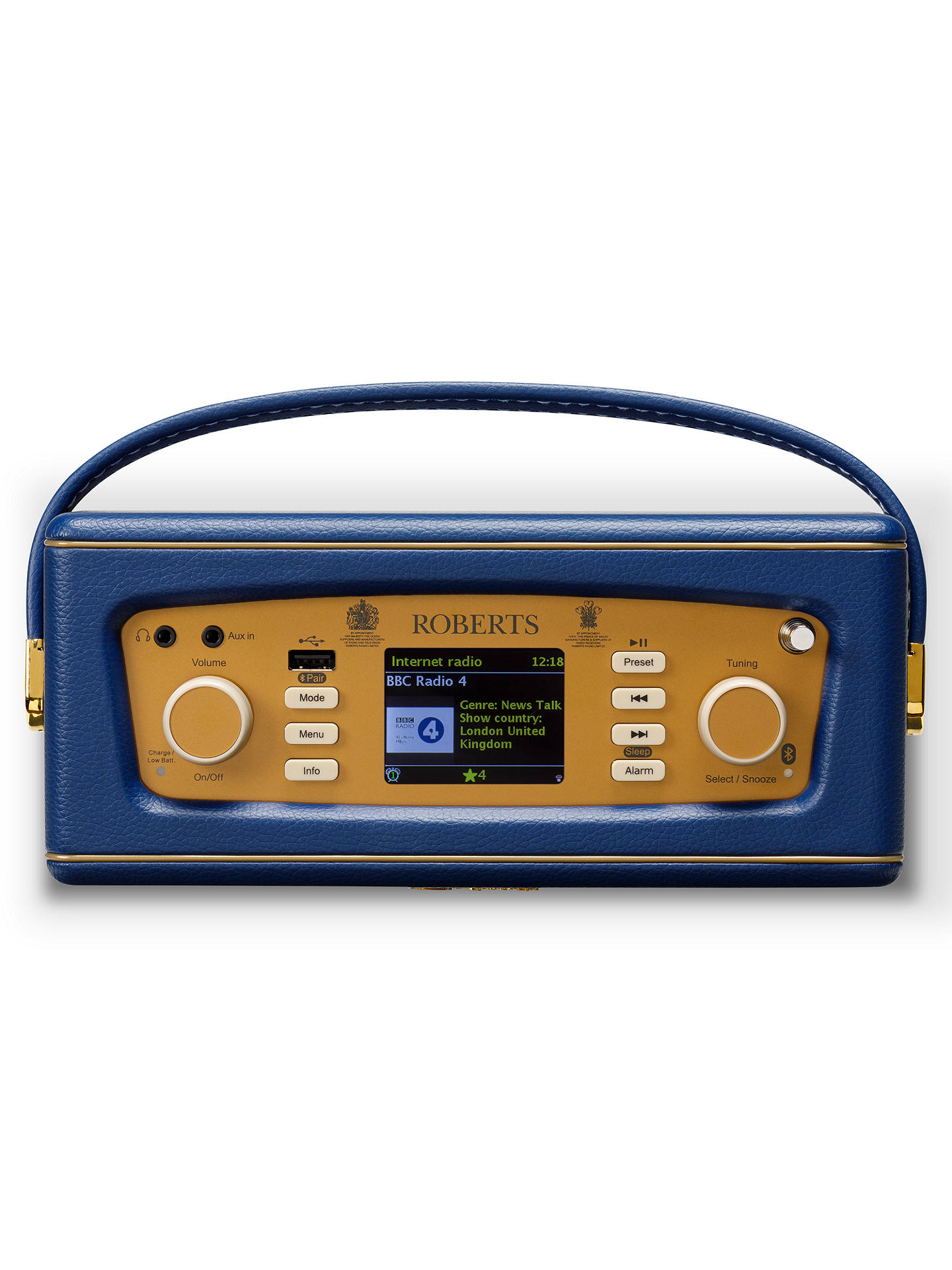 Buy ROBERTS Revival iStream 3 DAB+/FM Internet Smart Radio with Bluetooth, Midnight Blue Online at johnlewis.com
