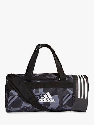 19aa07cf3018 adidas 3-Stripes Convertible Graphic Duffel Bag