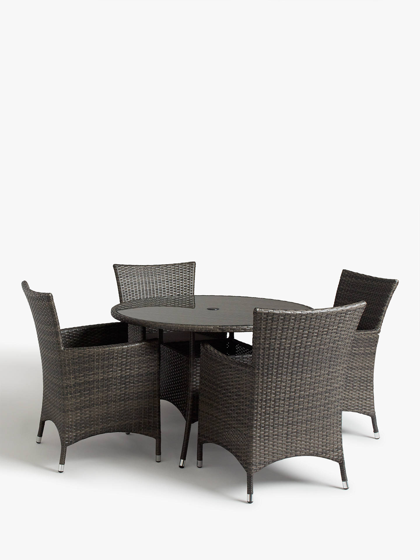 bb2c25c45f Buy John Lewis & Partners Alora 4-Seater Garden Dining Table & Chairs Set,