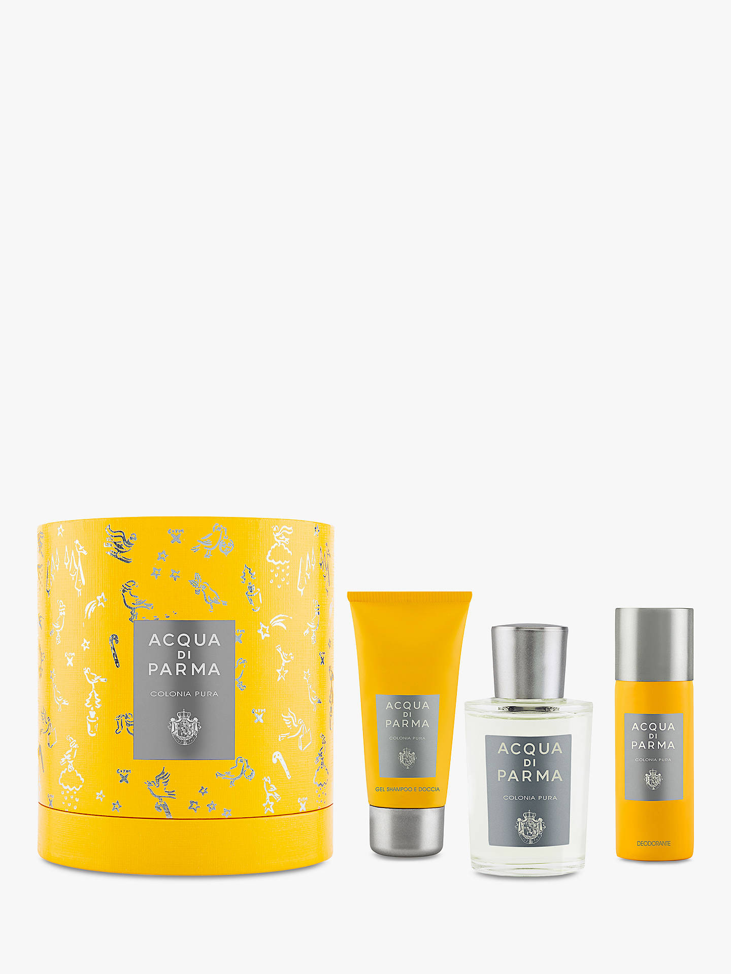 Buy Acqua di Parma Colonia Pura 100ml Eau de Cologne Fragrance Gift Set Online at johnlewis.com