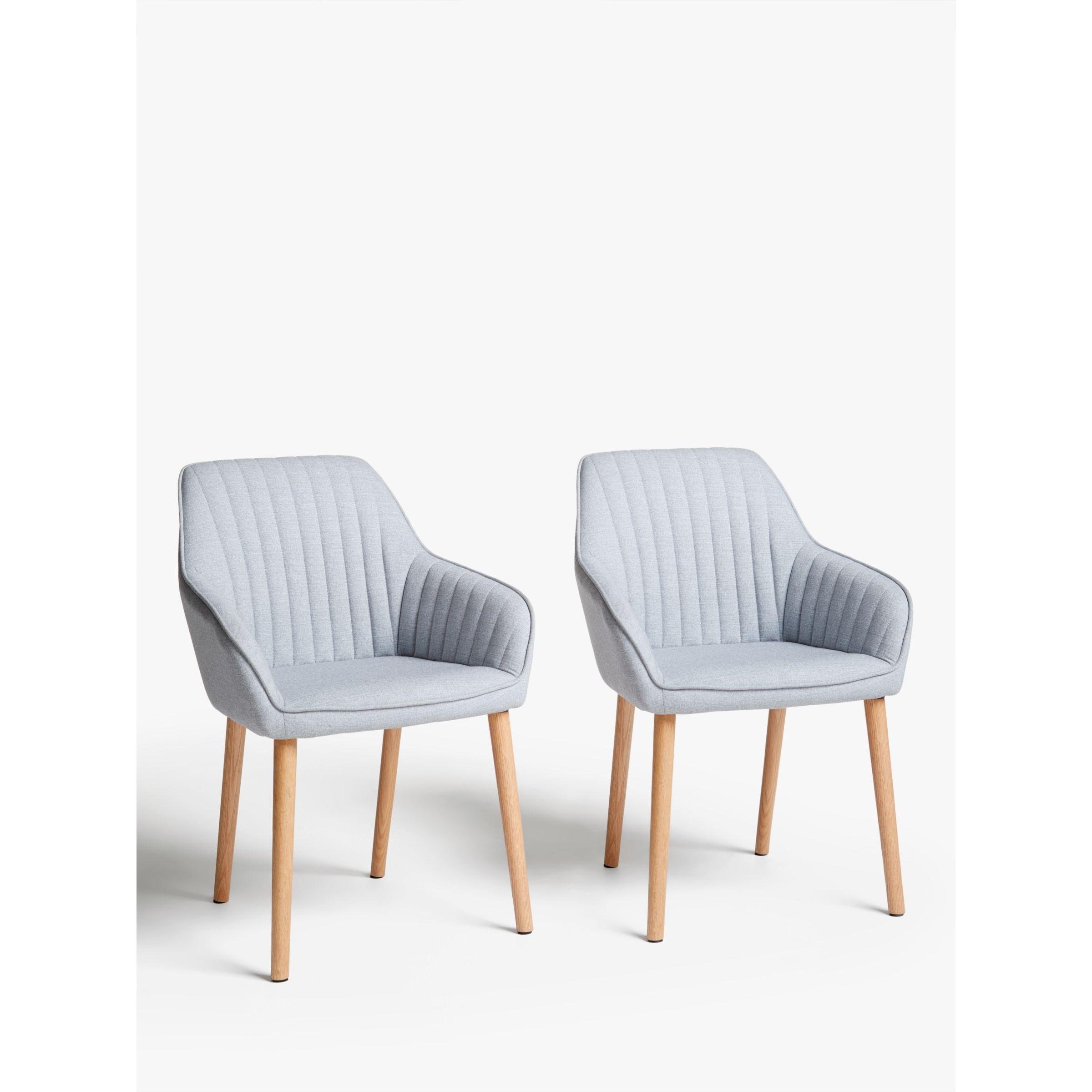 John Lewis & Partners Toronto Dining Armchairs, Set of 9, Grey