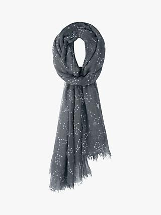 hush Constellation Motif Scarf, Grey