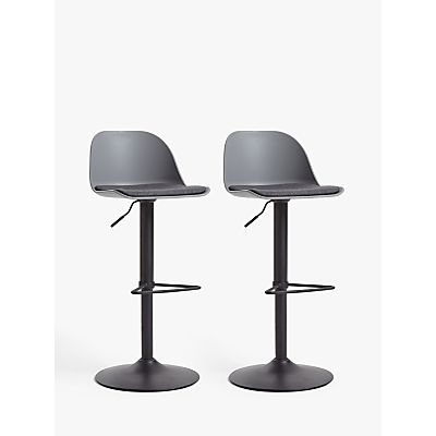 House by John Lewis Whistler Gas Lift Adjustable Bar Stools, Set of 2