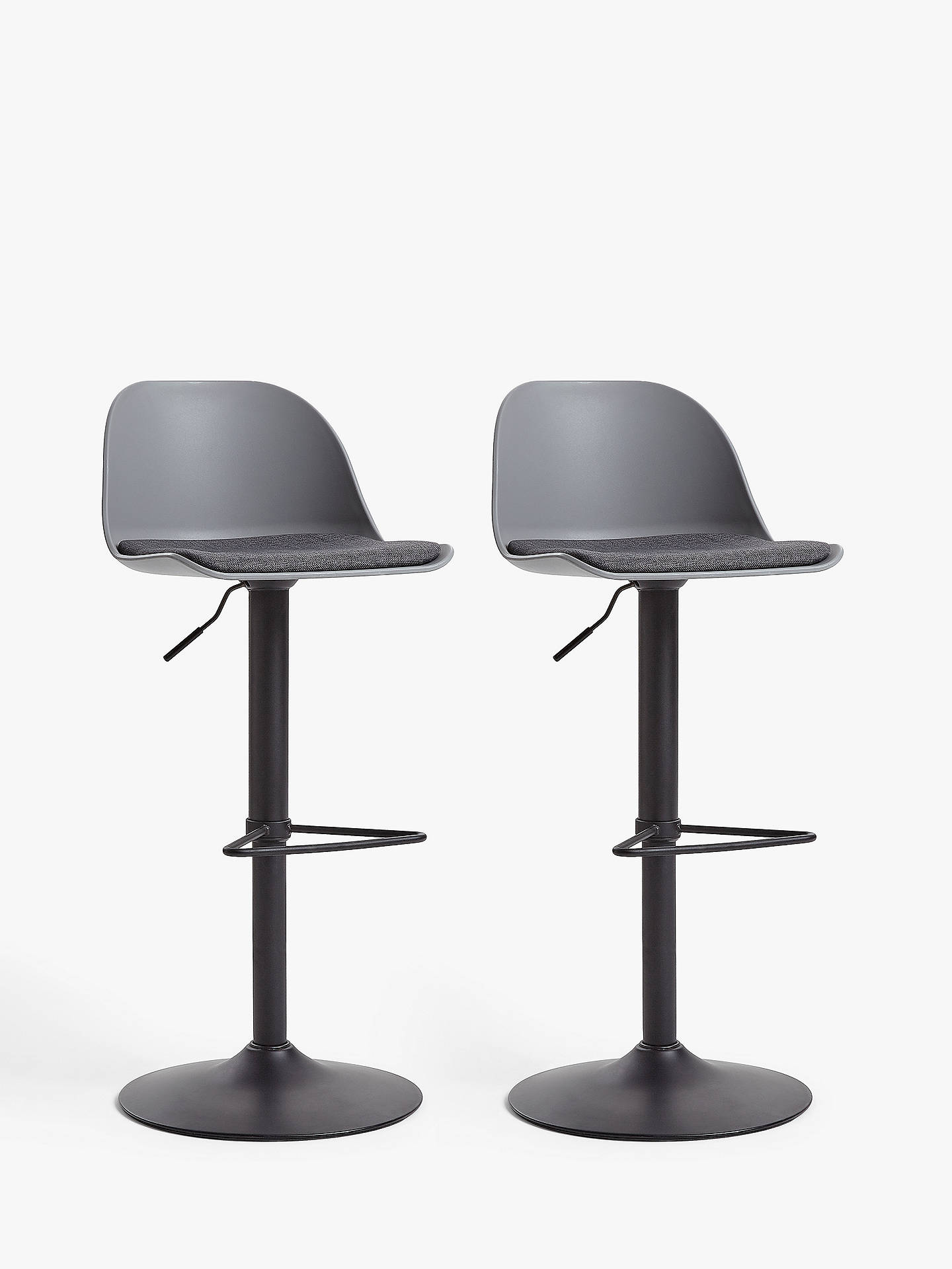 House By John Lewis Whistler Gas Lift Adjustable Bar Stools Set Of
