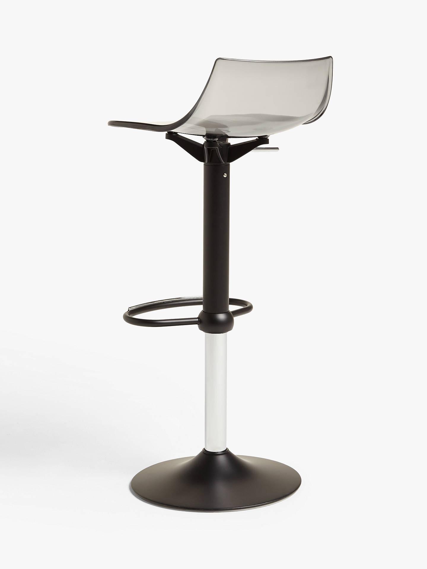 john lewis  partners sleek gas lift adjustable bar stool