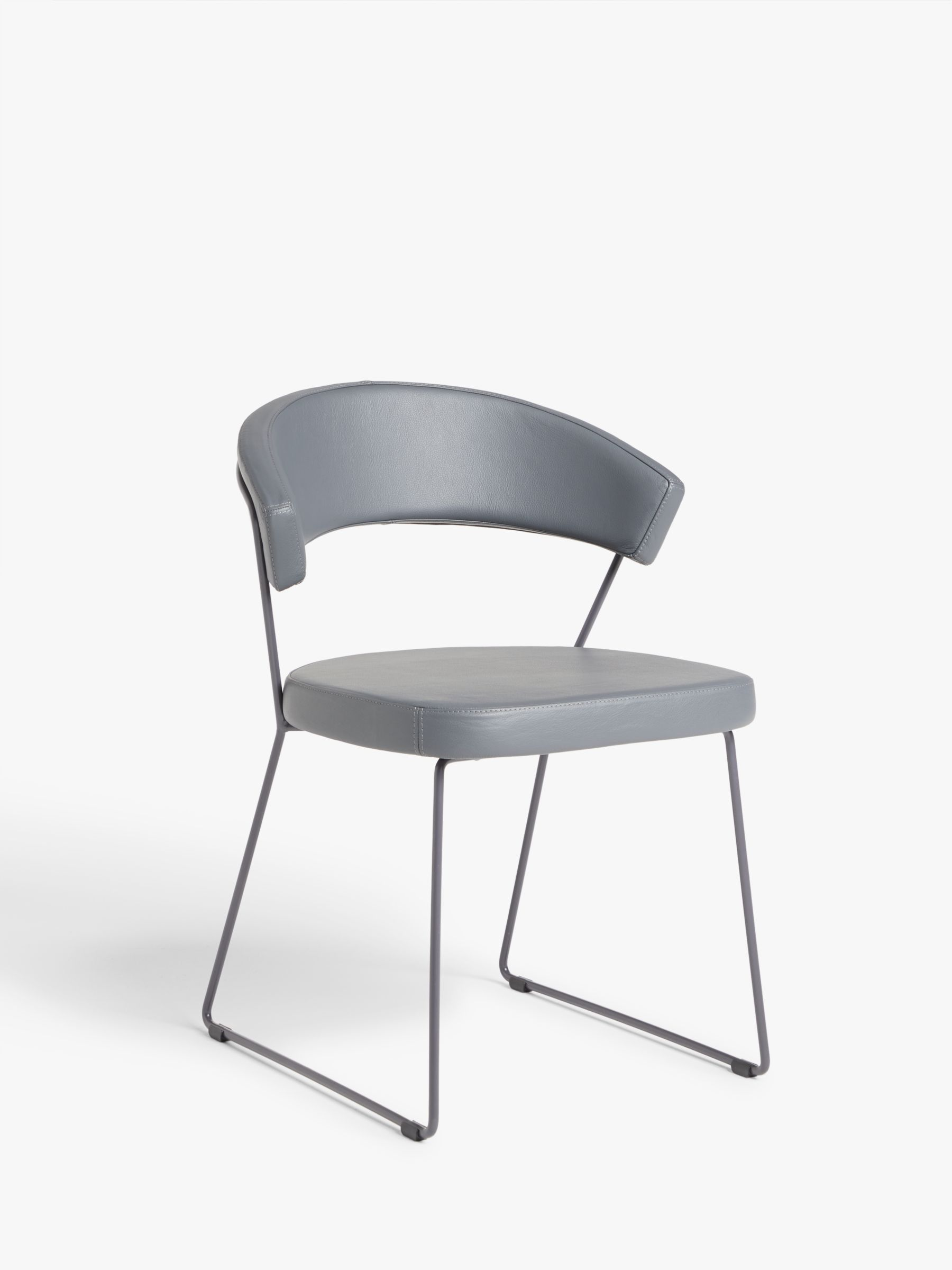 John Lewis & Connubia by Calligaris New York Leather Dining Chair Grey