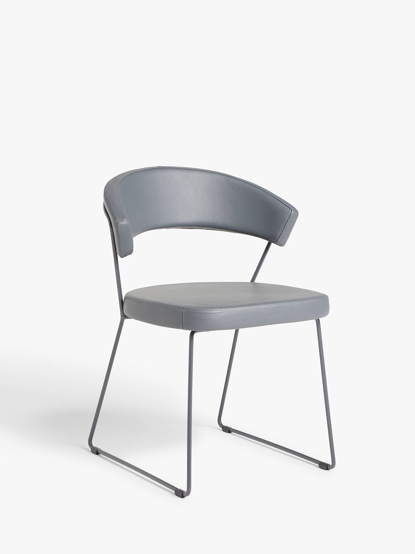 Connubia by Calligaris New York Leather Dining Chair at John Lewis ...