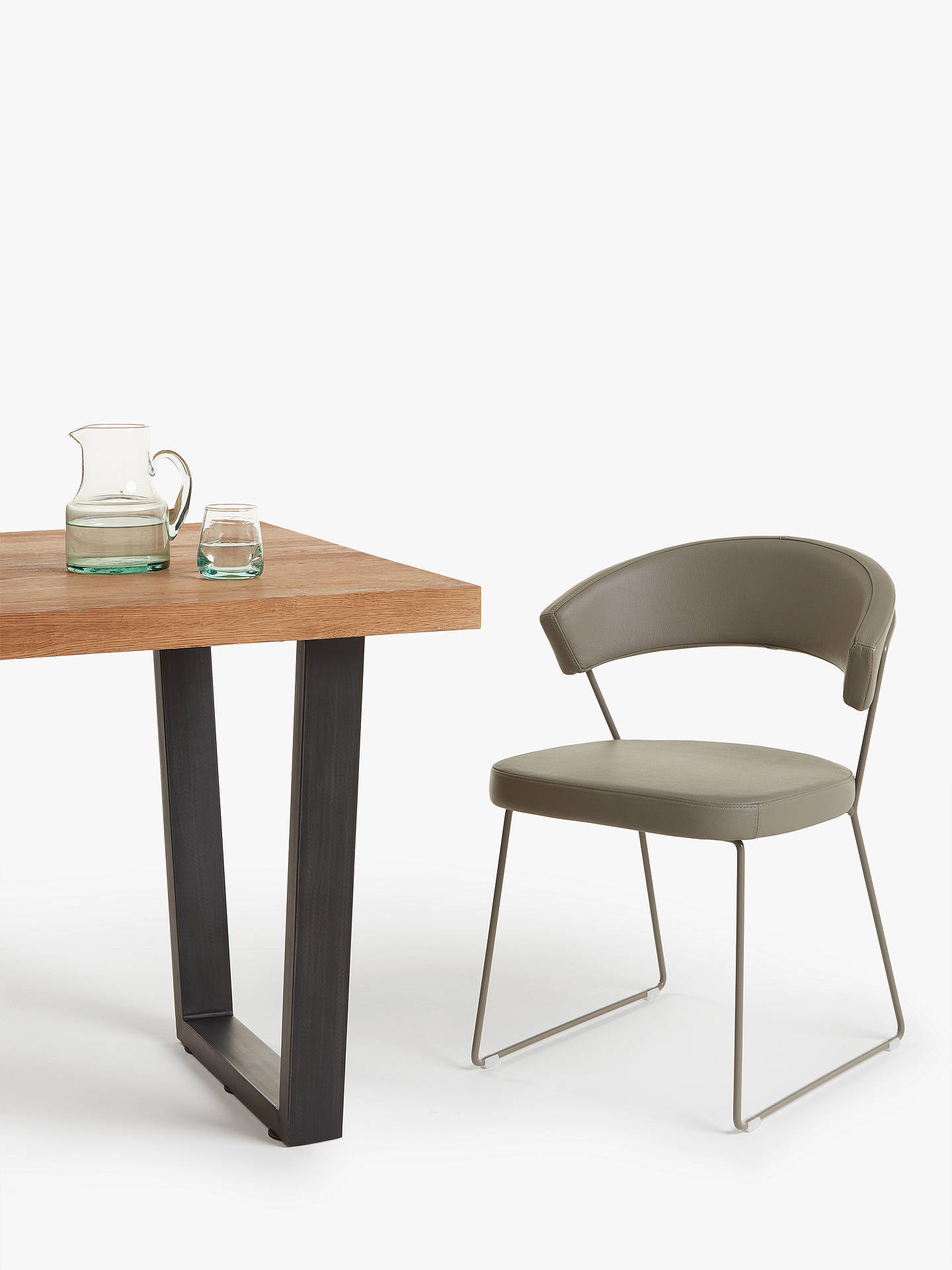 Connubia By Calligaris New York Leather Dining Chair At
