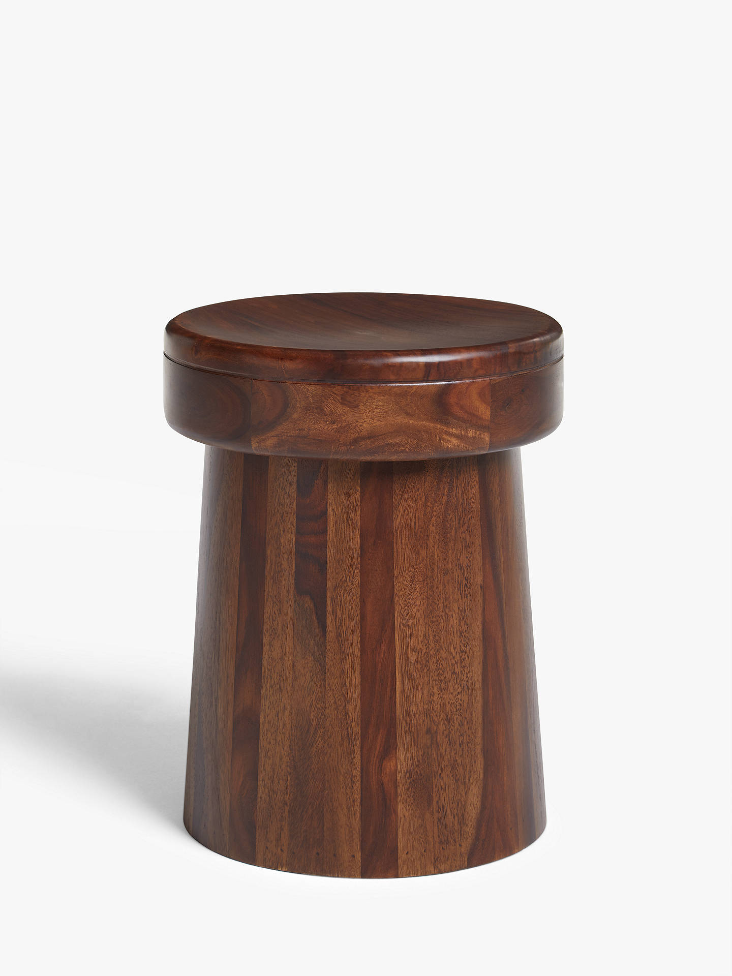 John Lewis Amp Partners Maharani Drum Stool Side Table