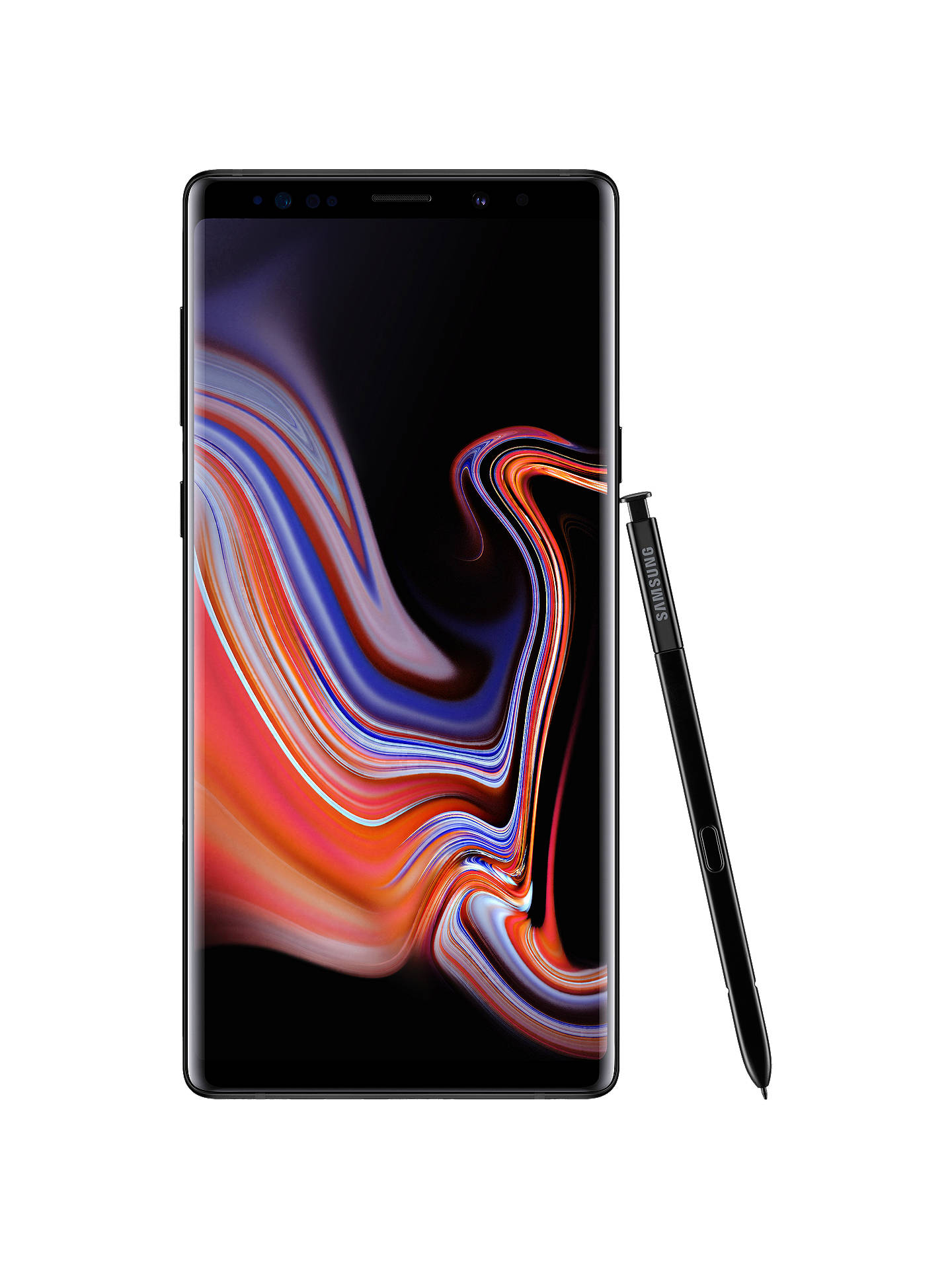 "Buy Samsung Galaxy Note9 Smartphone with S Pen, Android, 6.4"", 4G LTE, SIM Free, 128GB, Midnight Black Online at johnlewis.com"