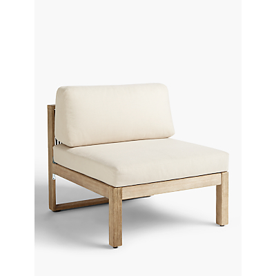 John Lewis & Partners St Ives Rope Modular Garden Chair with Cushions, FSC-Certified (Eucalyptus Wood), Natural