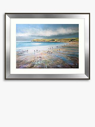 Michael Sanders - Polzeath Beath, Framed Print & Mount, 70.5 x 90.5cm
