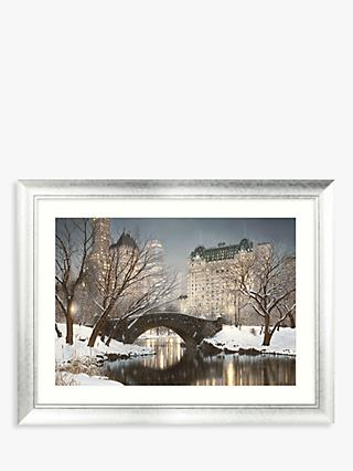 Rod Chase - Twilight In Central Park Framed Print & Mount, 88 x 112cm