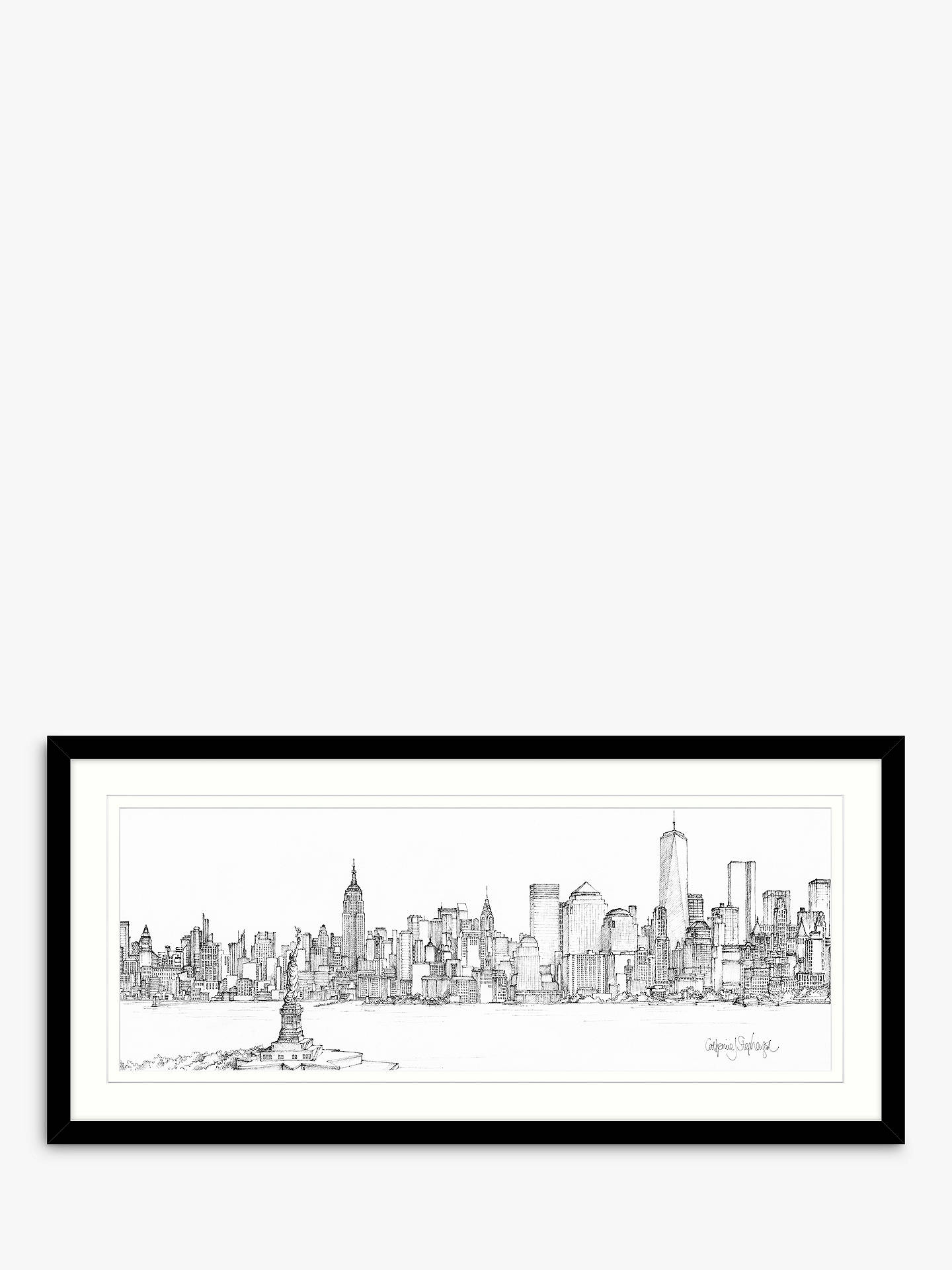BuyCatherine Stephenson - New York Framed Print & Mount, 49.5 x 104.5cm Online at johnlewis.com