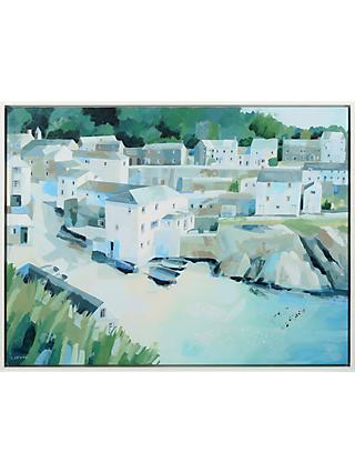 Claire Henley - Slipway Portloe Embellished Framed Canvas Print, Green, 64 x 84cm