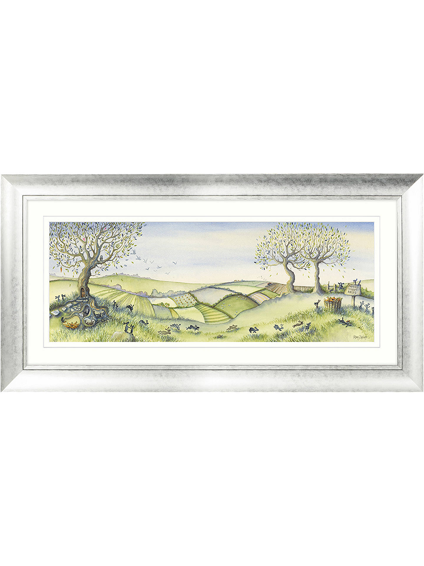 Buy Catherine Stephenson - Annual Carrot Race Framed Print, 59 x 112cm Online at johnlewis.com