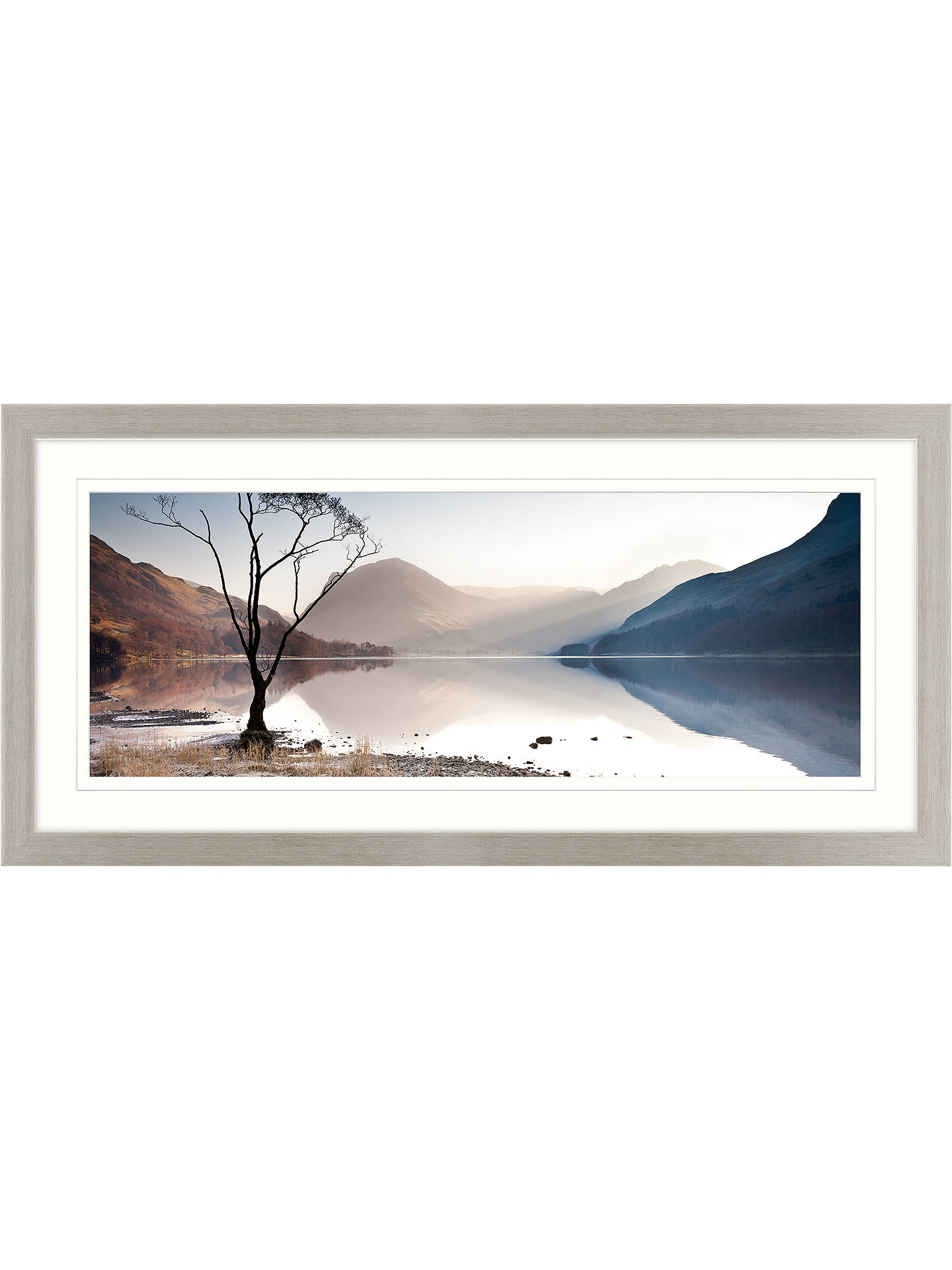 James Bell - Buttermere Tree Framed Print & Mount, 52 x 107cm at ...