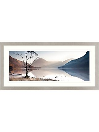 James Bell - Buttermere Tree Framed Print & Mount, 52 x 107cm
