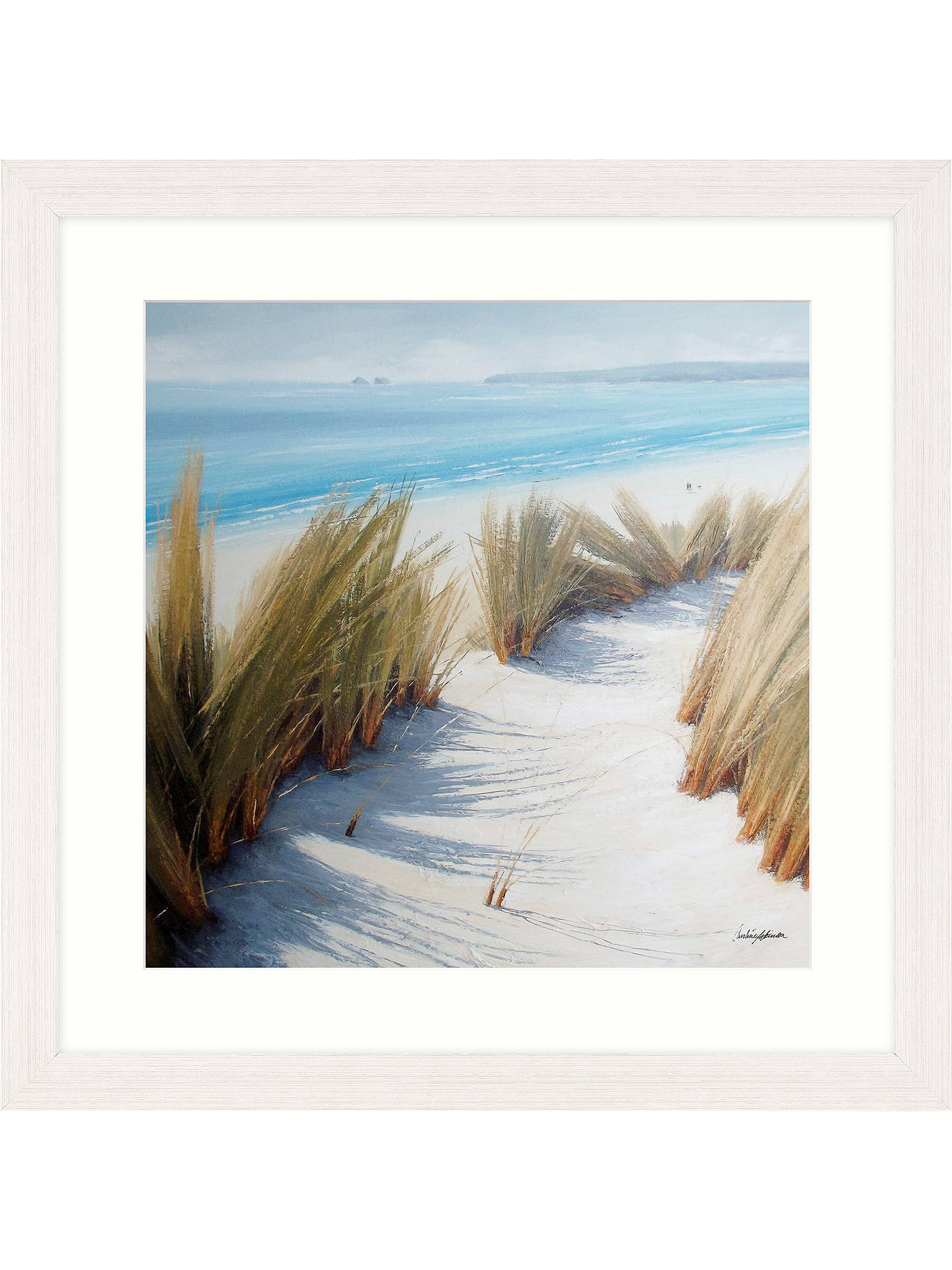 BuyCaroline Atkinson - Pathway Through The Dunes I Framed Print & Mount, 65 x 65cm Online at johnlewis.com