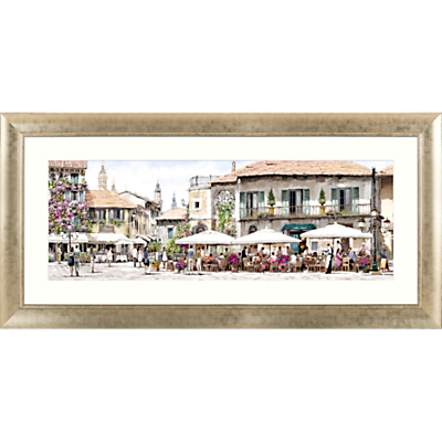 Image of Richard Macneil - Mediterranean Al Fresco Framed Print & Mount, 62 x 128cm