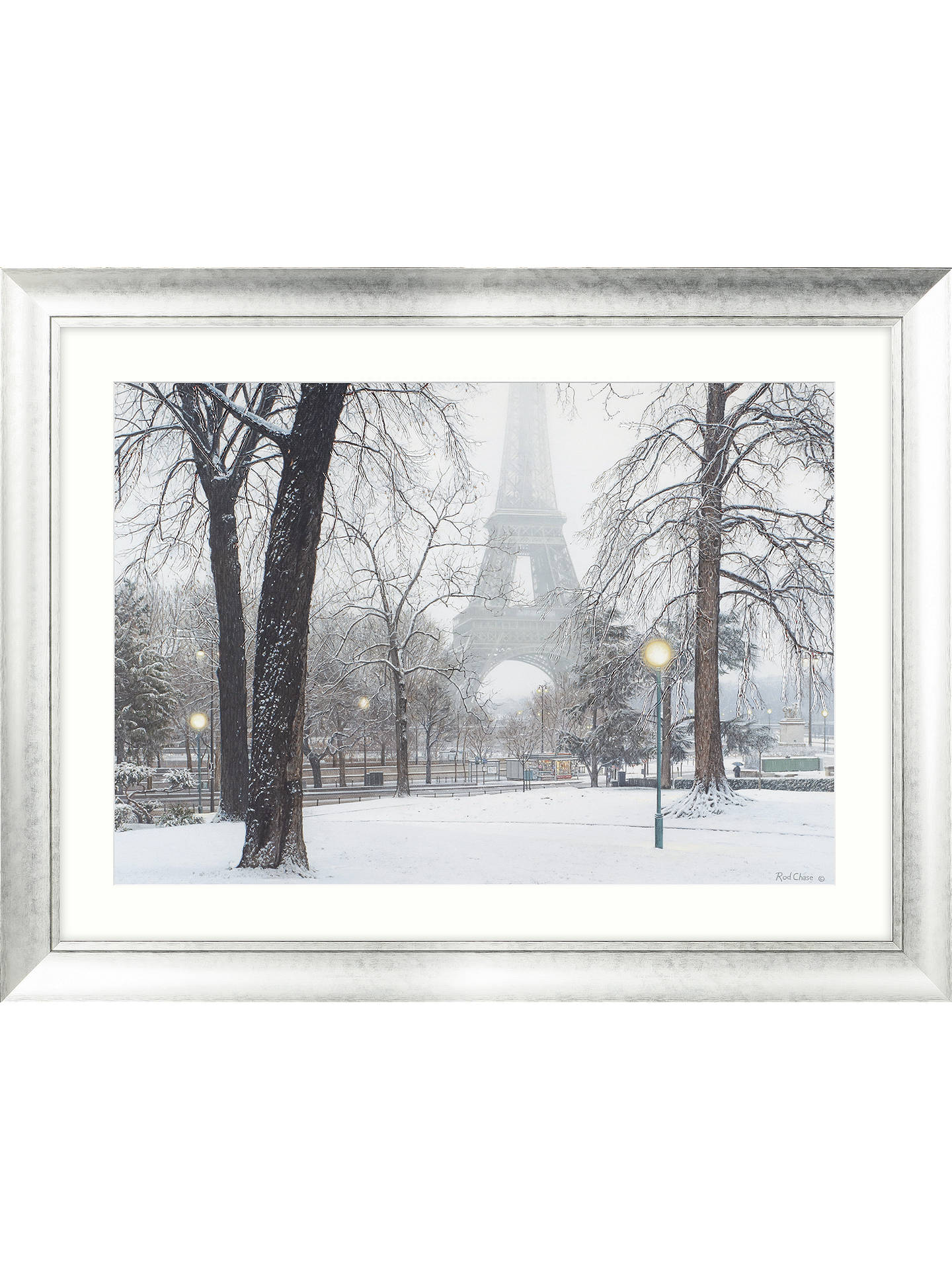 BuyRod Chase - Foggy Day In Paris Framed Print & Mount, 88 x 112cm Online at johnlewis.com