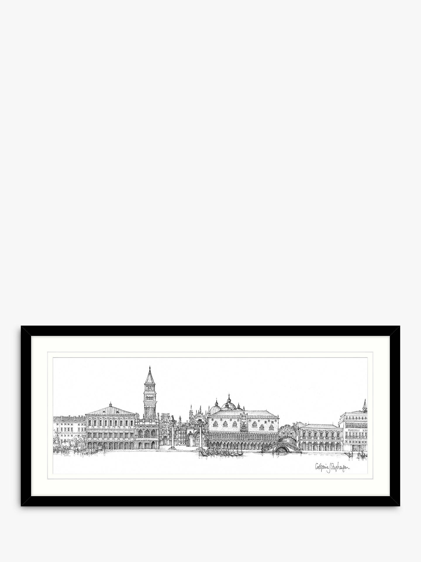 BuyCatherine Stephenson - Venice Framed Print & Mount, 49.5 x 104.5cm Online at johnlewis.com