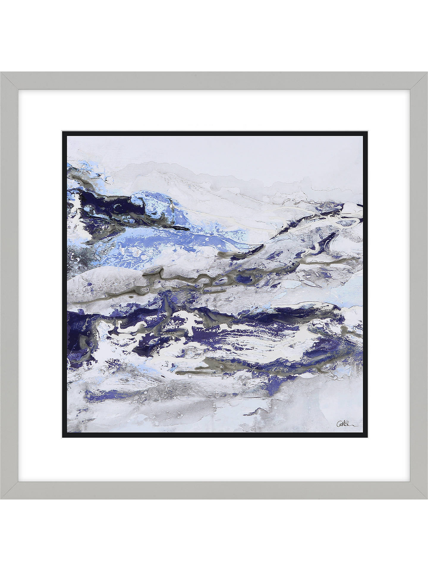 Buy Caroline Ashwood - Glen Frost Framed Print & Mount, 61.5 x 61.5cm, Purple Online at johnlewis.com