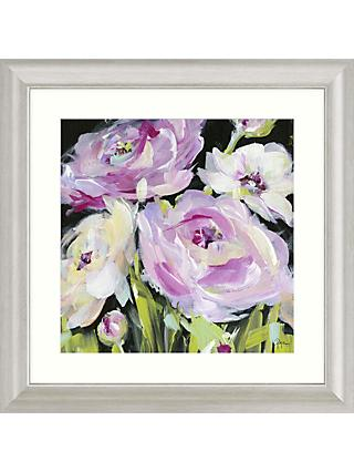 Susan Pepe - Flowers on Black II Framed Print & Mount, 68.5 x 68.5cm