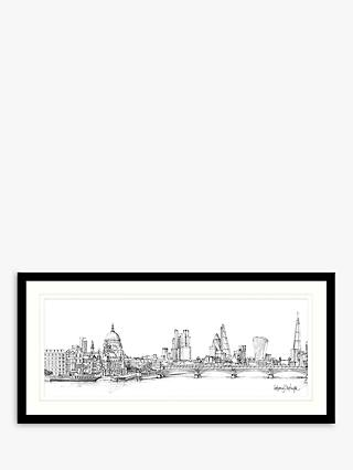 Catherine Stephenson - London II Framed Print & Mount, 49.5 x 104.5cm