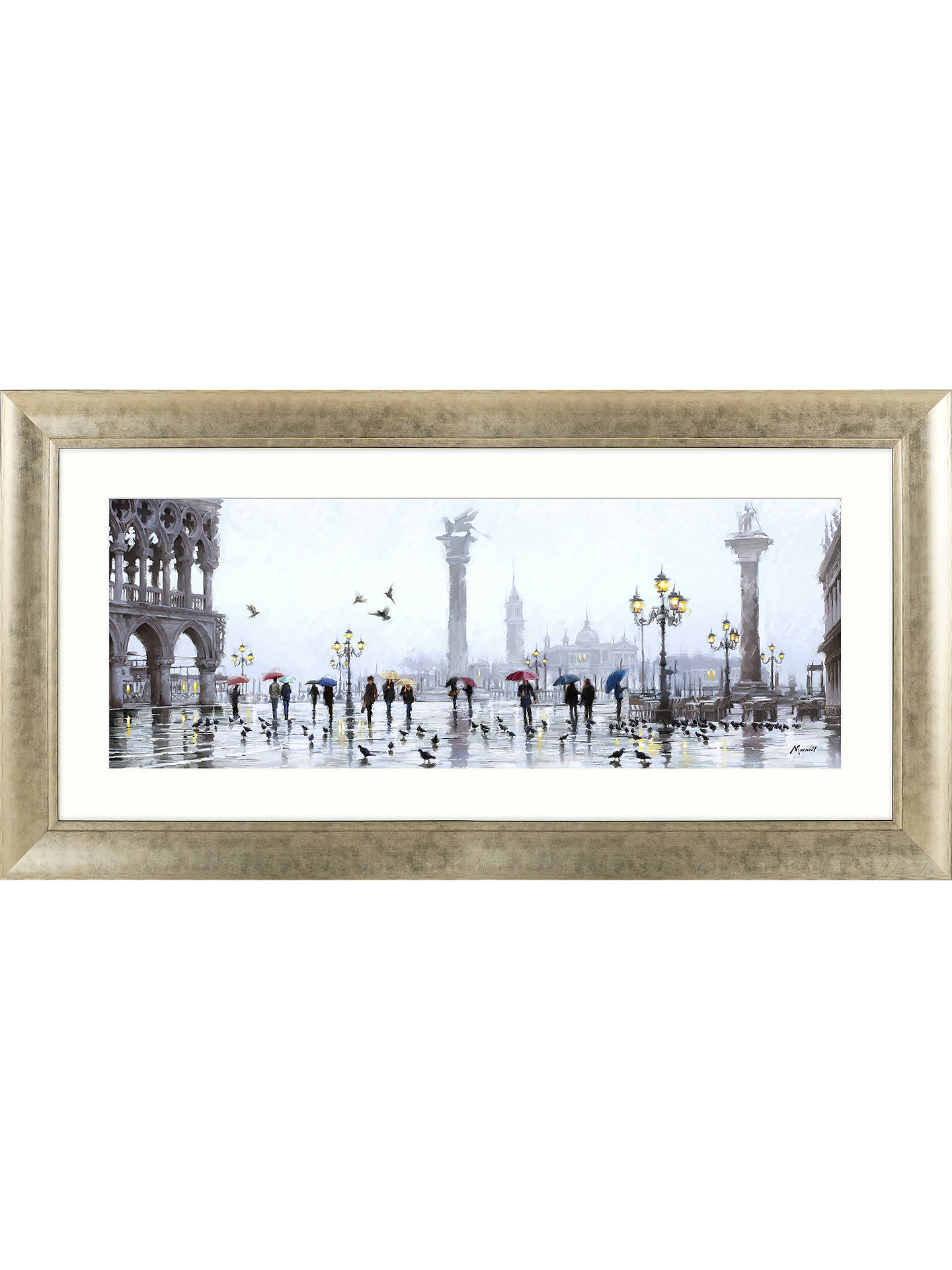 BuyRichard Macneil - San Marco Reflection Framed Print & Mount, 62 x 128cm Online at johnlewis.com