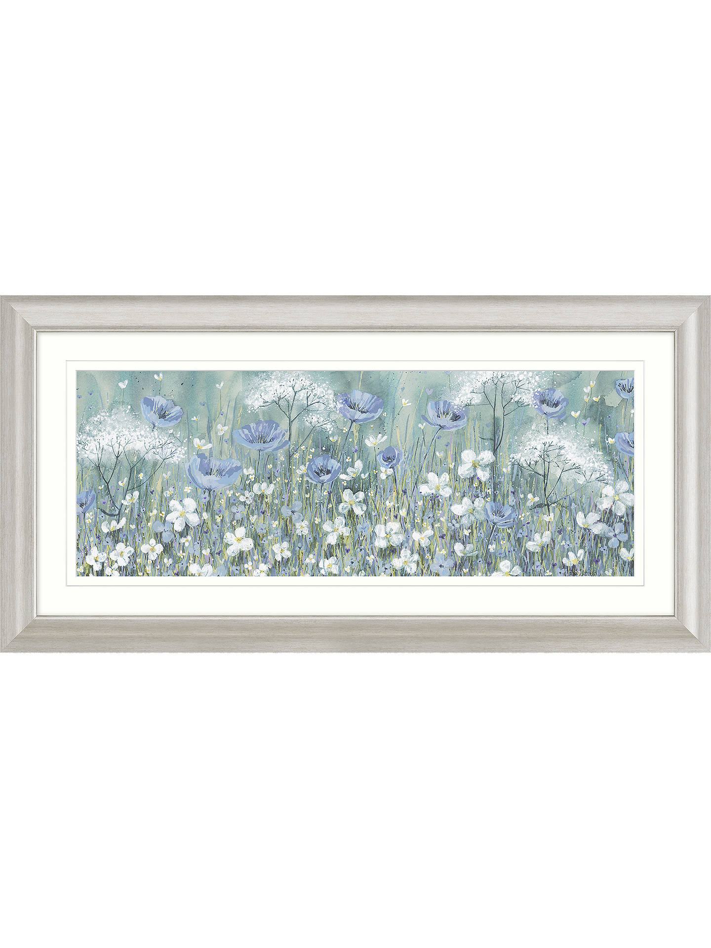 BuyCatherine Stephenson - Lavender Daisy Meadow Framed Print & Mount, 55.5 x 110.5cm Online at johnlewis.com