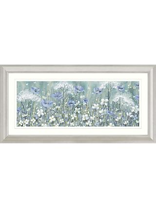 Catherine Stephenson - Lavender Daisy Meadow Framed Print & Mount, 55.5 x 110.5cm
