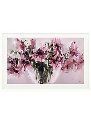 Nicole Pletts - Pink Sunflowers Embellished Framed Print, 76 x 116cm
