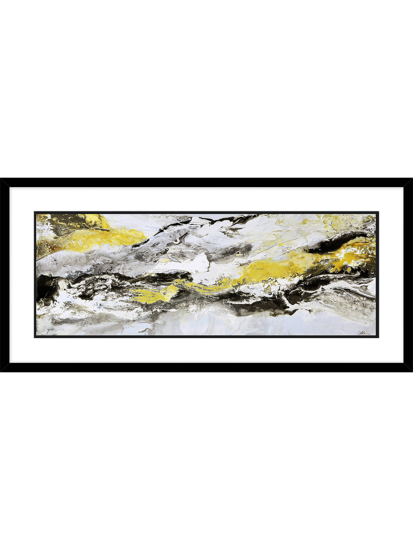 BuyCaroline Ashwood - Glen Mist Framed Print & Mount, 48.5 x 103.5cm, Gold Online at johnlewis.com