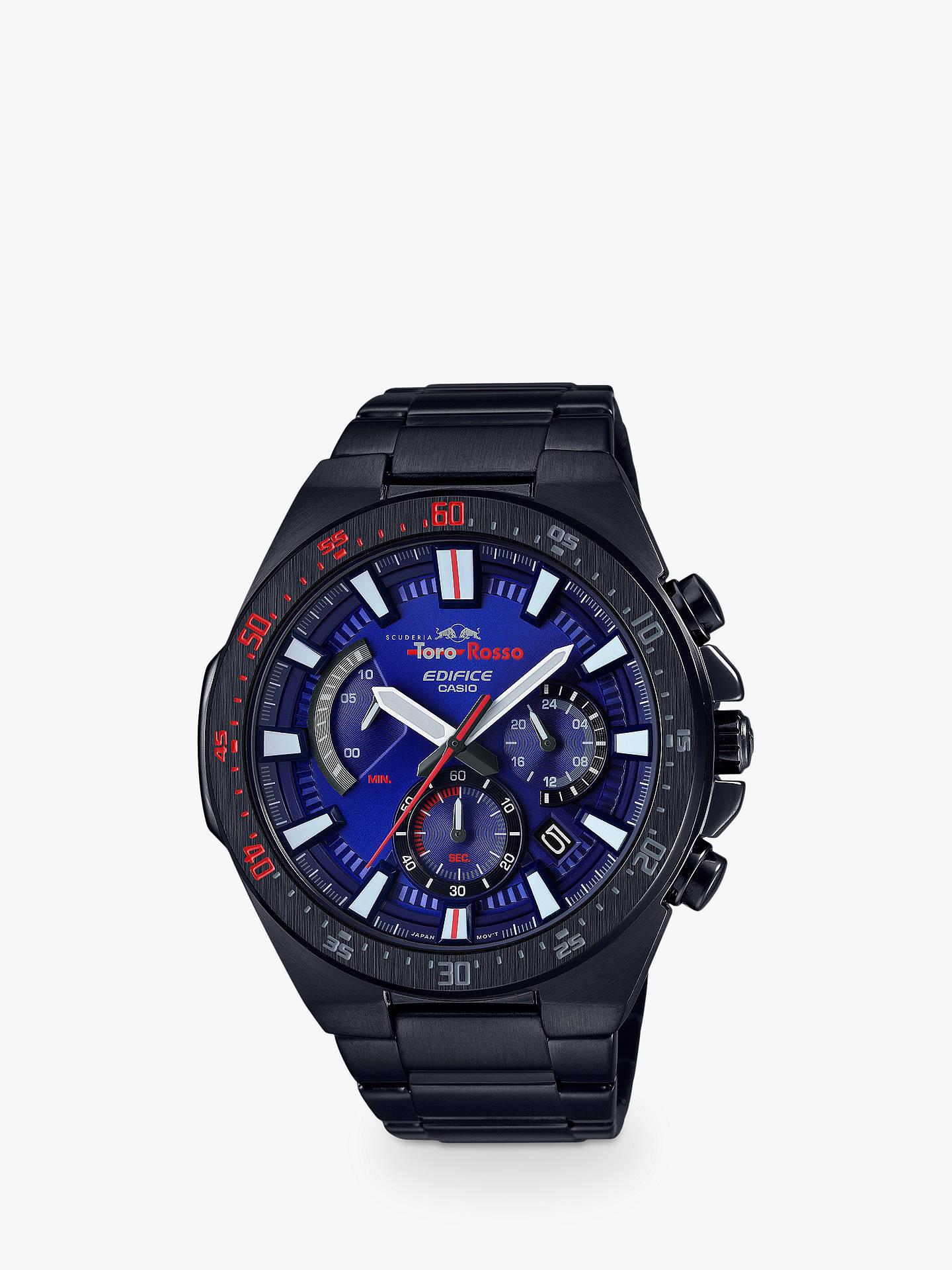 BuyCasio EFR-563TR-2AER Men s Edifice Scuderia Toro Rosso Chronograph Date  Bracelet Strap Watch 66573da9f1d6