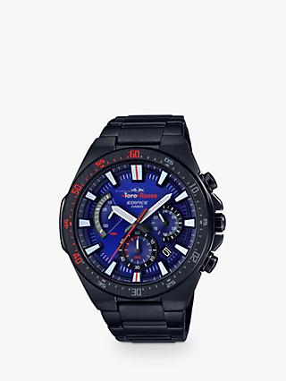 Casio EFR-563TR-2AER Men's Edifice Scuderia Toro Rosso Chronograph Date Bracelet Strap Watch, Black/Blue