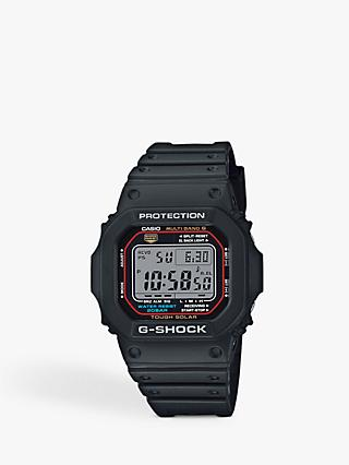 Casio GW-M5610-1ER Men's G-Shock Resin Strap Watch, Black/Grey