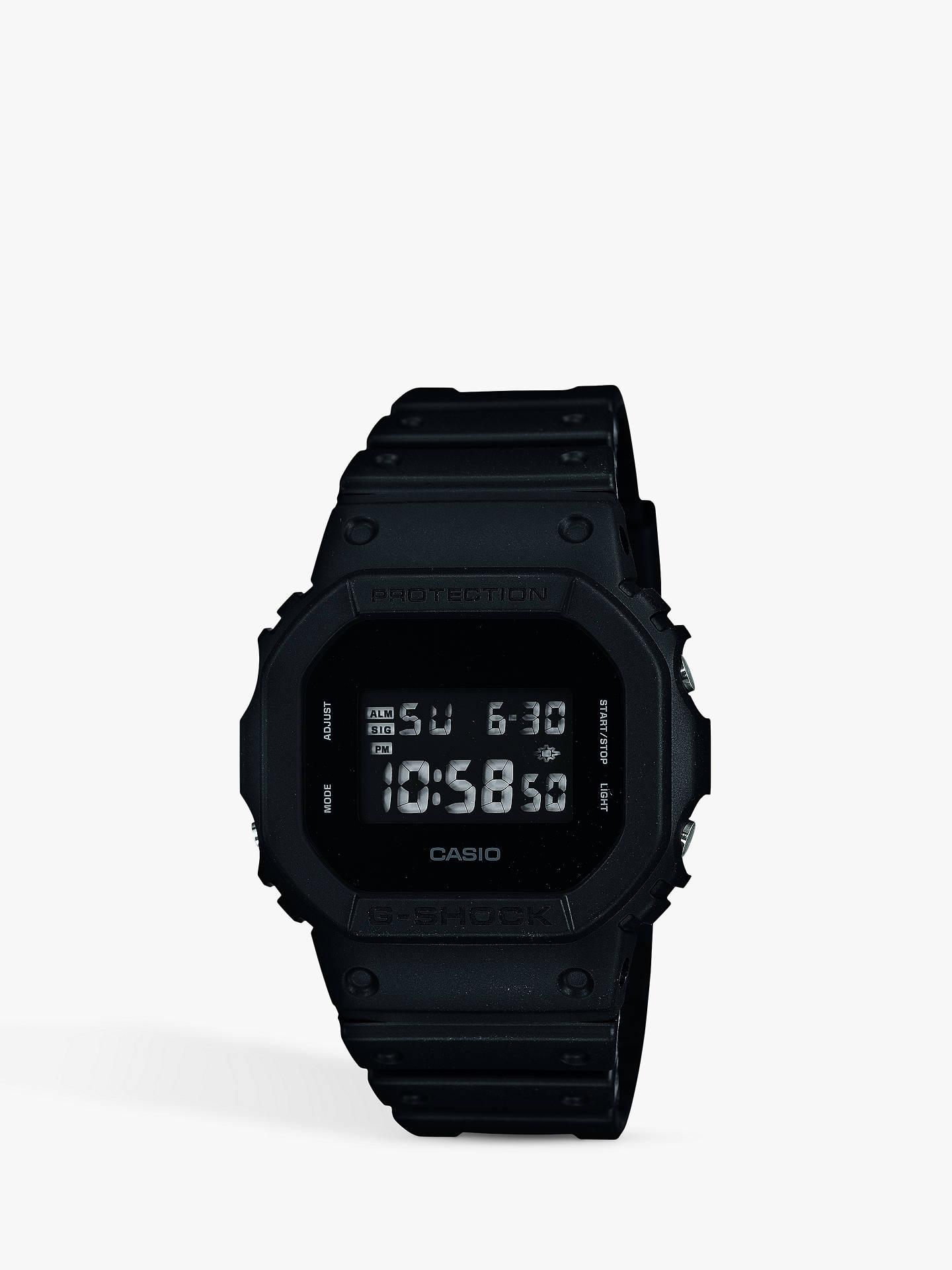 59a6ad3fc3bd Buy Casio Men's G-Shock Digital Resin Strap Watch, Black DW-5600BB- ...