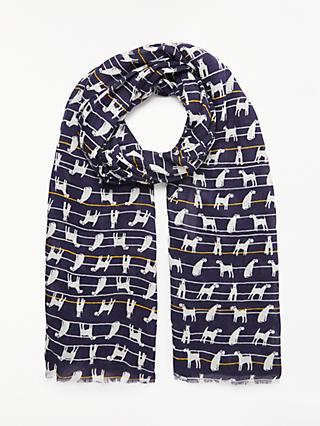ace035a356581 Collection WEEKEND by John Lewis Ralph Dog Print Cotton Scarf