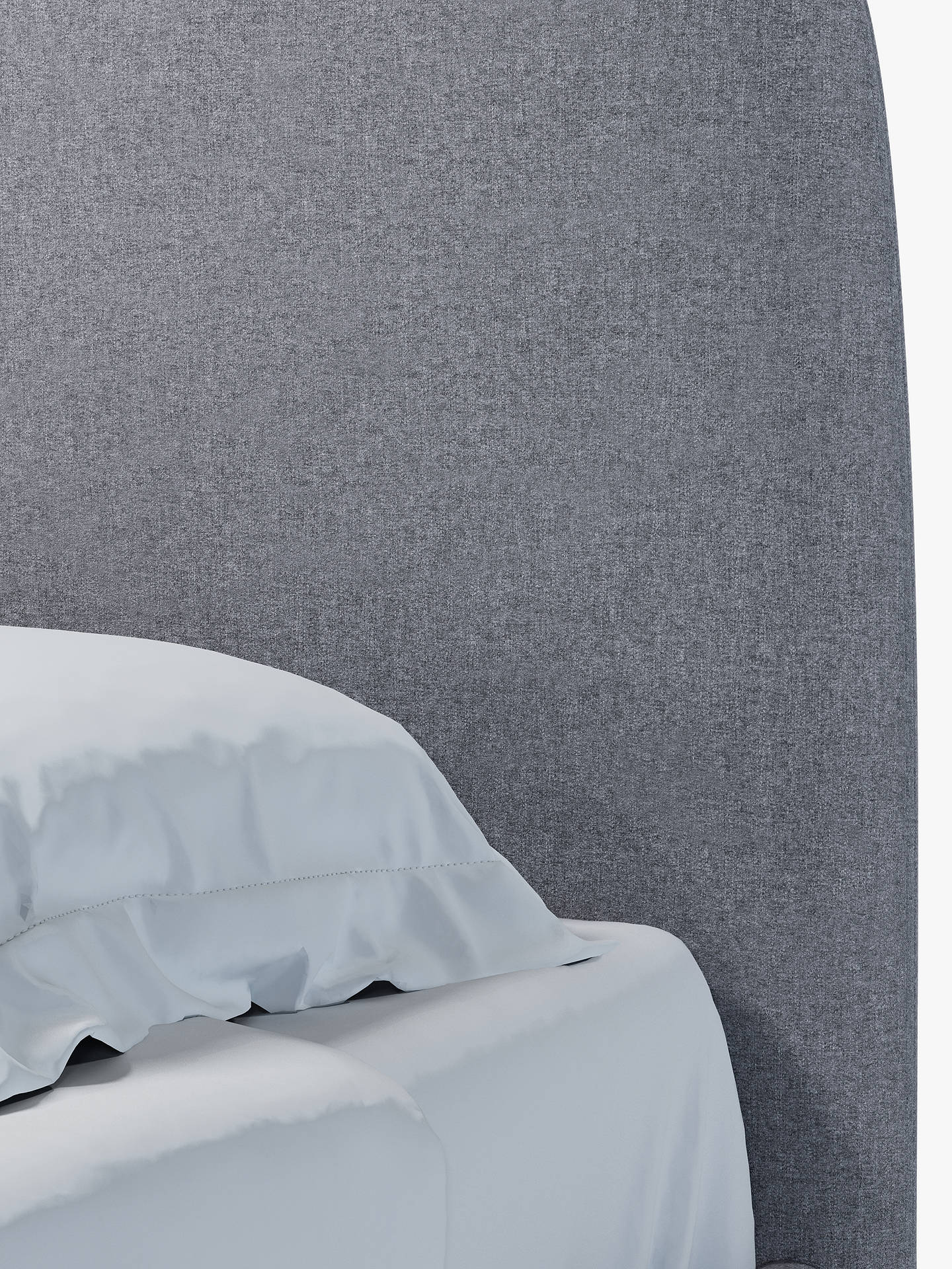 Buy House by John Lewis Bonn Upholstered Bed Frame, Double, Saga Grey Online at johnlewis.com