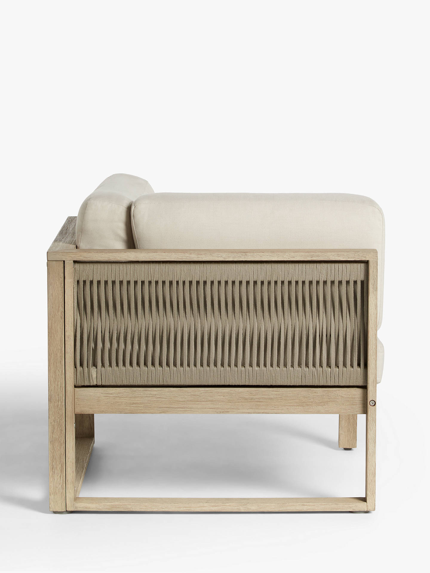 Surprising John Lewis Partners St Ives Rope Garden Corner Chair With Cushions Fsc Certified Eucalyptus Wood Natural Download Free Architecture Designs Osuribritishbridgeorg
